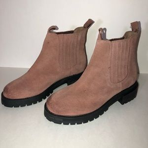 Jeffrey Campbell Krishnu Blush suede boots